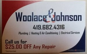 "The large banner with Woolace & Johnsons ""contact us"" information."