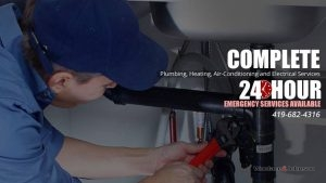 Plumber is available for complete plumbing, heating, and air conditioning service 24 hours a day.